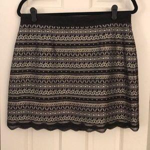 Laundry by Shelli Segal Jacquard Mini Skirt